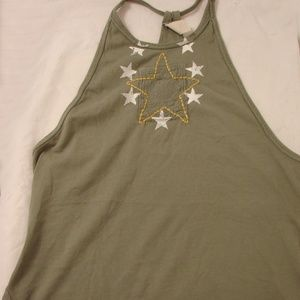 FREE PEOPLE MILITARY LOOK RACERBACK TOP MED